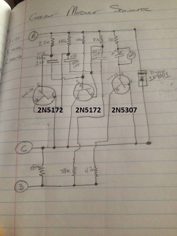 3 wire low coolant module schematic
