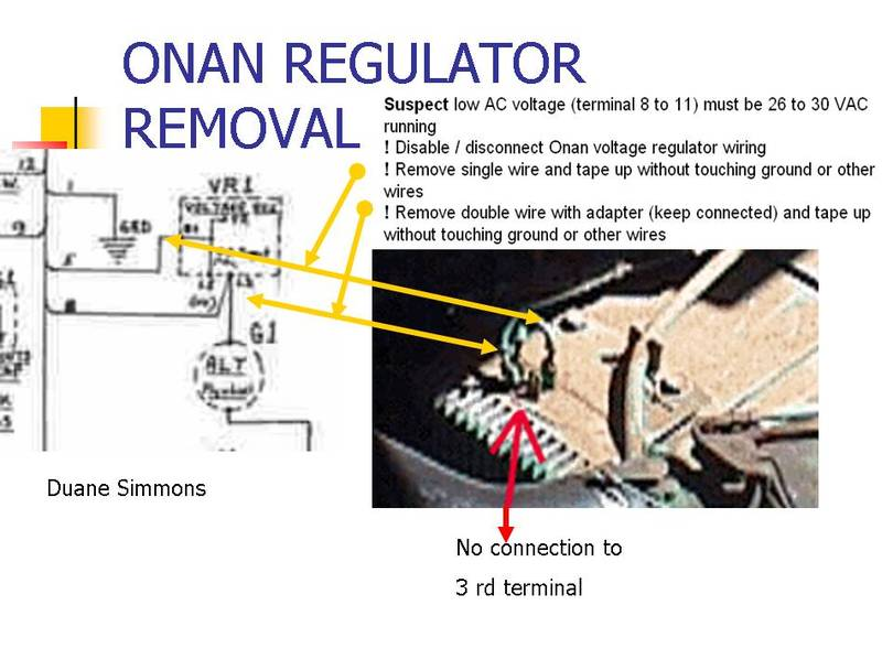 onan voltage regulator removal