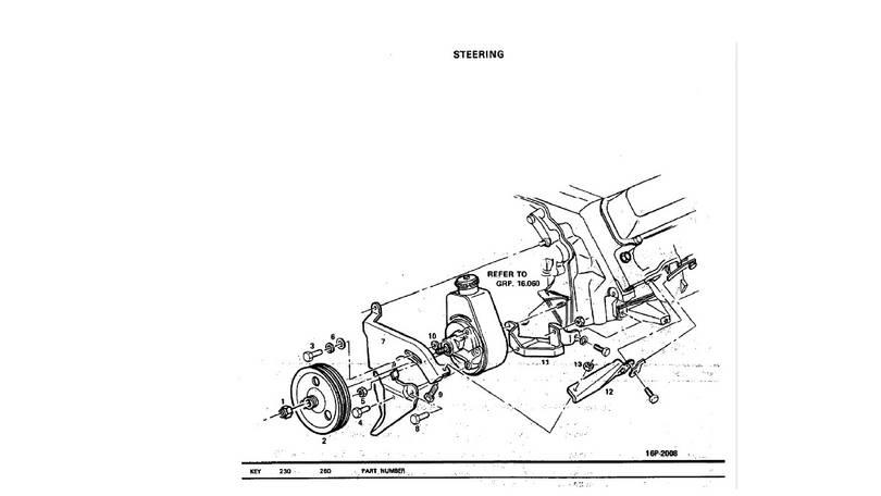power steering pump mount