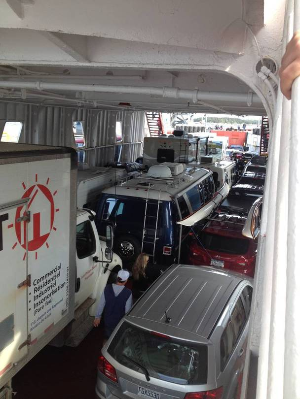 A little tight on this ferry...
