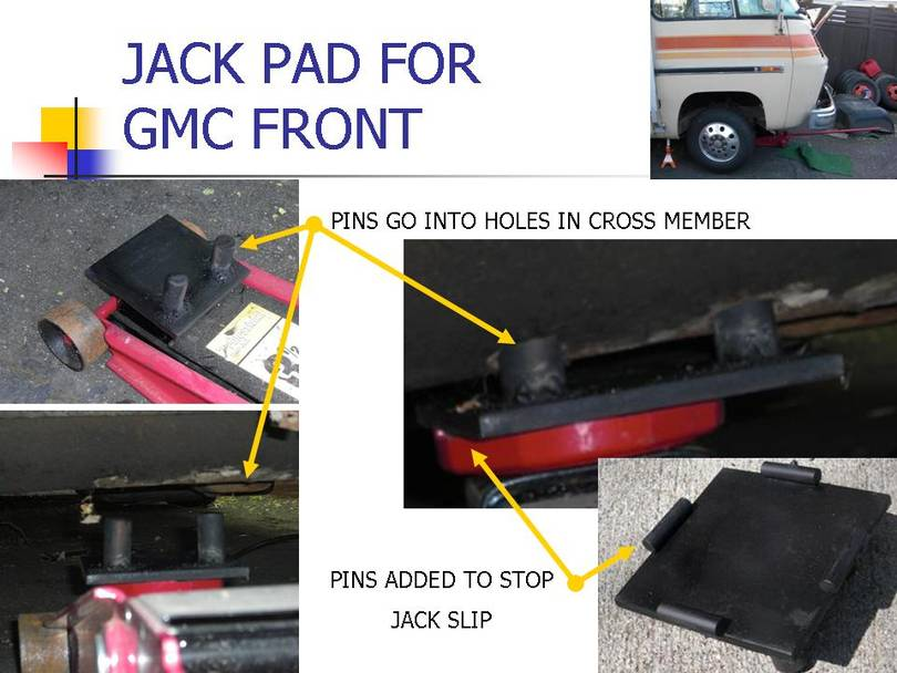 JACK PAD FOR FRONT OF GMC