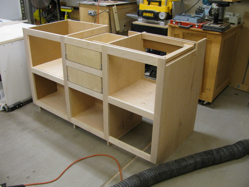 Kitchen base cabinet with drawers and counter extension for Base kitchen cabinets without drawers