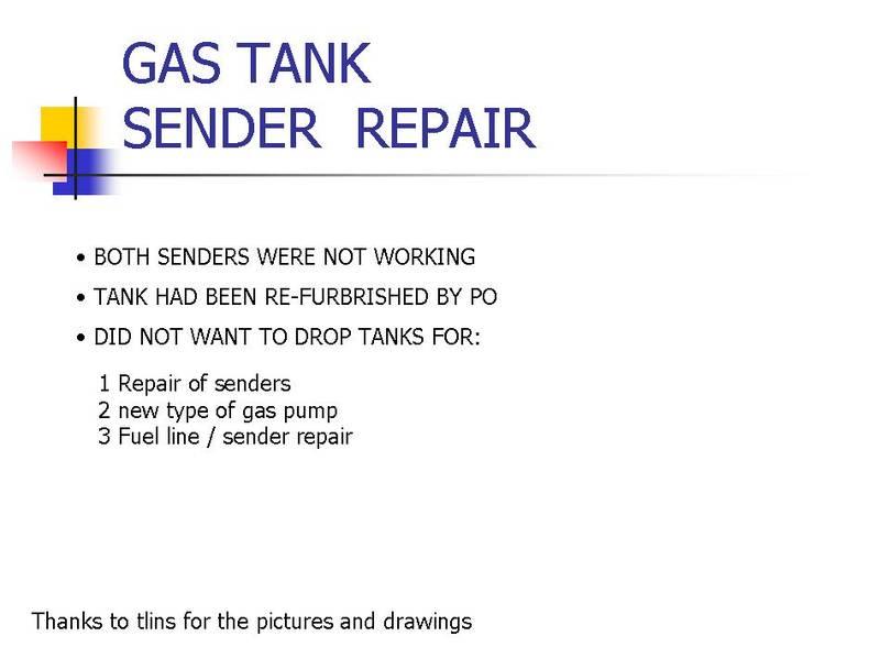 gas tank sender repair