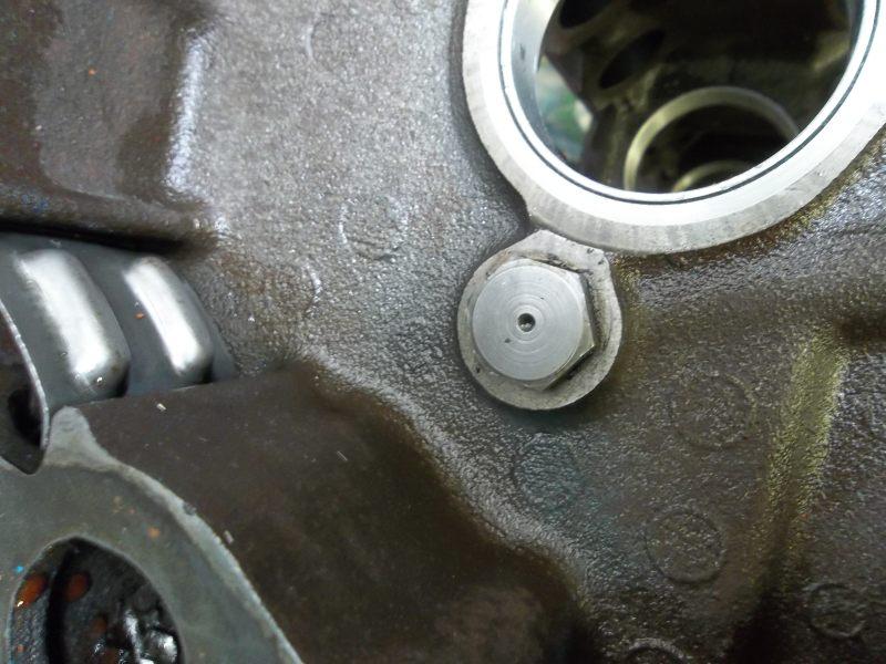gmcforum gmcnet oil galley plug