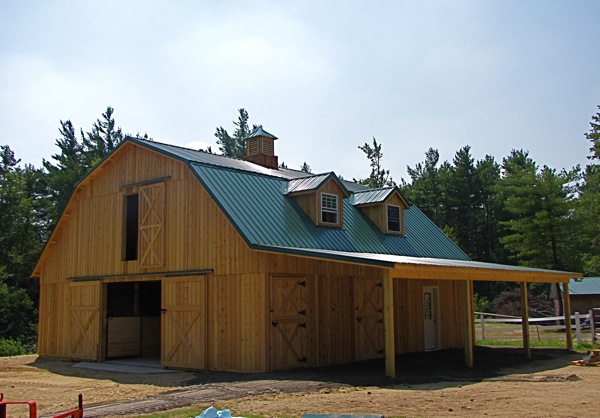 A gambrel barn like this without the dormers - Gambrel pole barns style ...