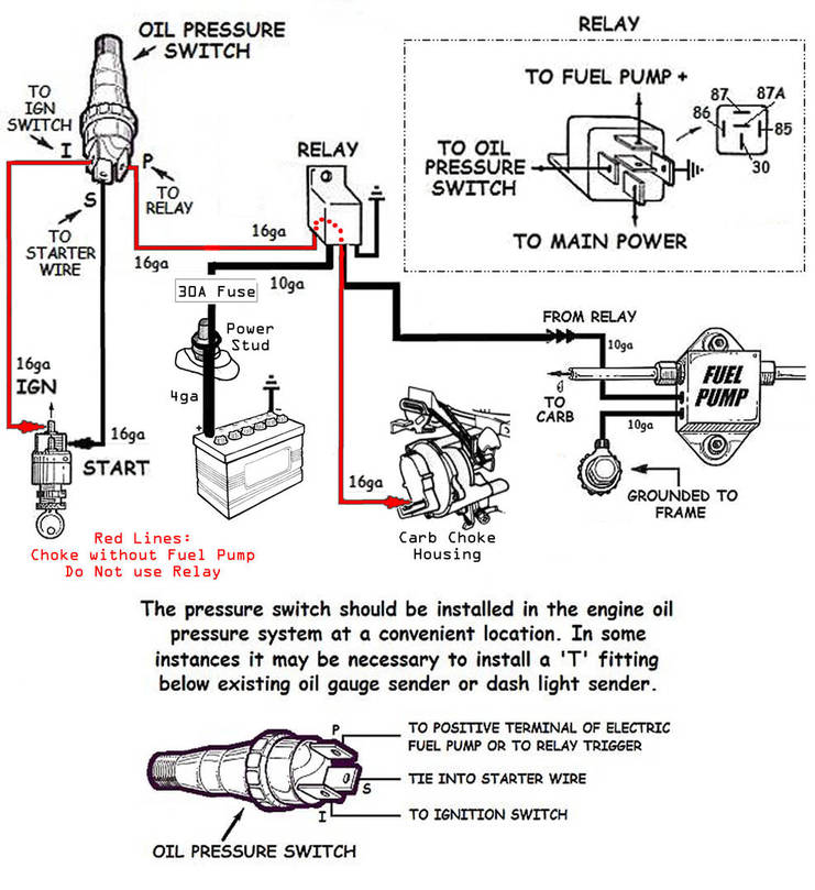 electric fuel pump and electric choke