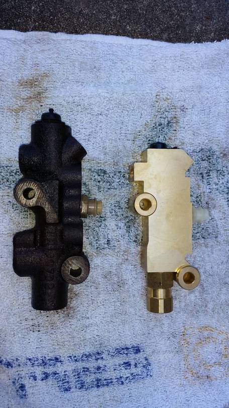 New and Old Proportioning Valves