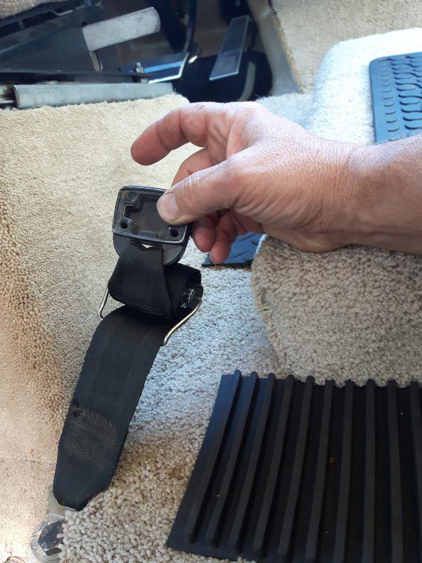 Old Seatbelt Buckle Damage