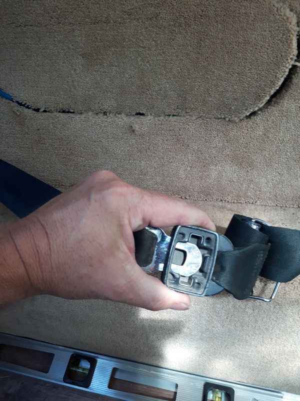 Old Seatbelt Clasp into Buckle