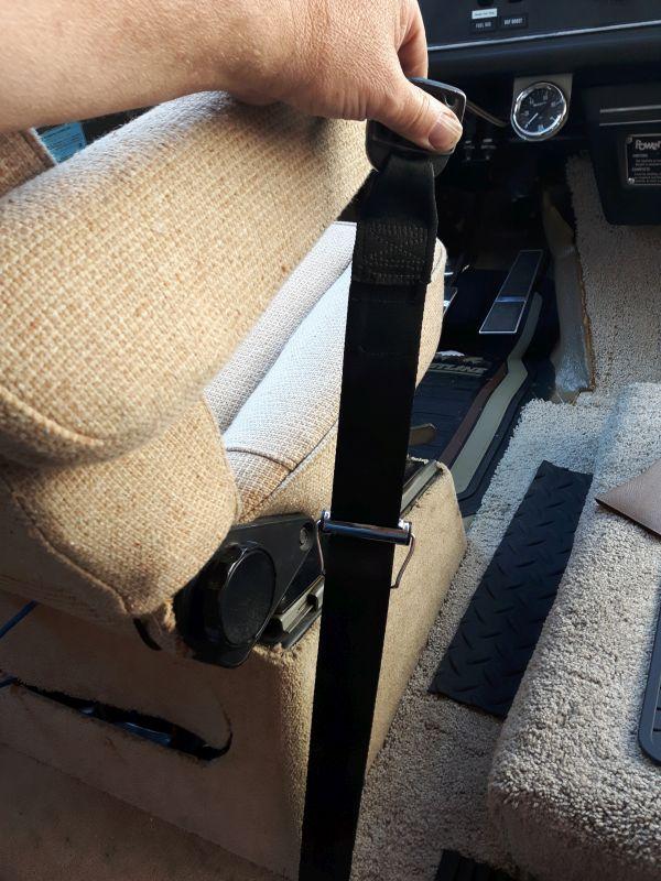 Old Seatbelt  inboard  extended