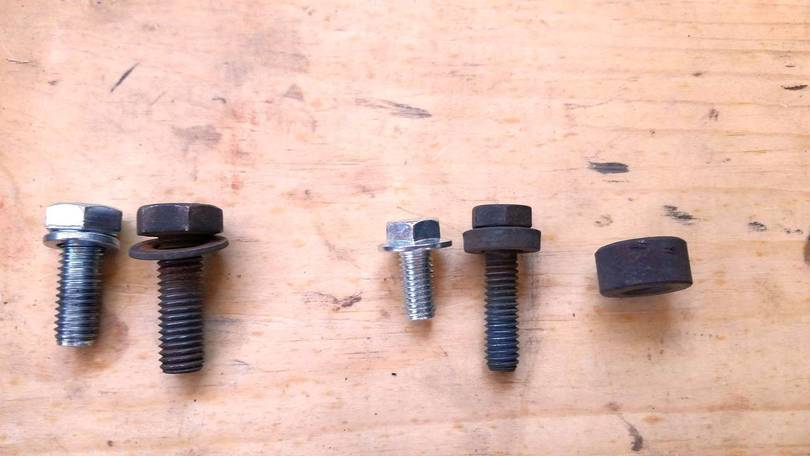 Alternator Bolts and Spacers