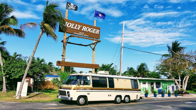 Harry at the Jolly Roger RV Resort in Marathon in the Florida Keys