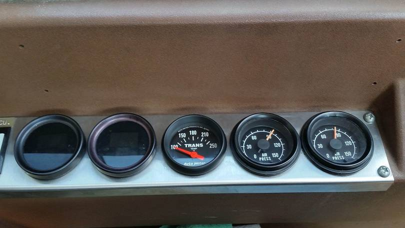 New Transmission Temperature Gauge Installed