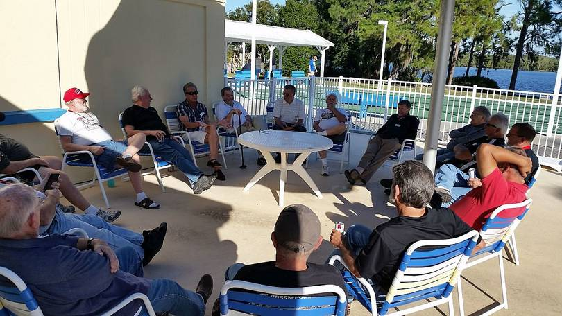 Tech Talk at the Pool Down by the Lake at the Rally
