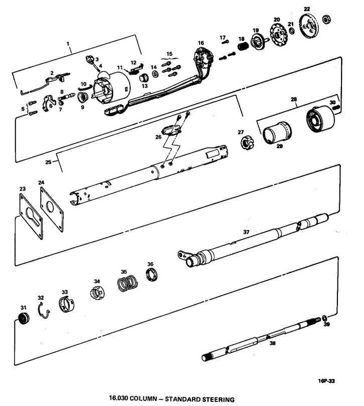 Standard Steering Column Parts