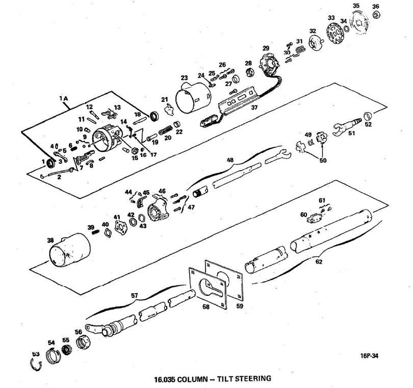 Tilt Steering Column Parts